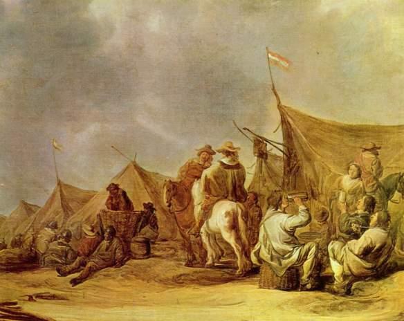 Aelbert_Cuyp_Descanso no acampamento, c1660 Musée des Beaux Arts, Rennes_X